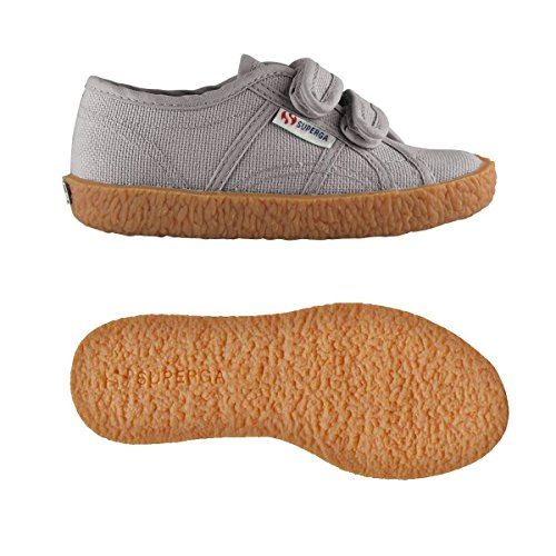 Superga  2750-naked Covj, Sneakers basses Unisexe - enfant GRAY DK SAGE