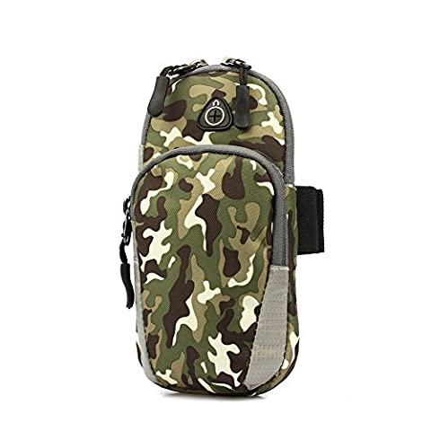 OUTRY Arm Bag, Cell Phone Workout Running Armband (Green Camo,