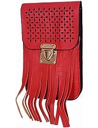Ratash Cut Work With Stripe Cut Sling Bag Red (Hbd_34_35_36_13)