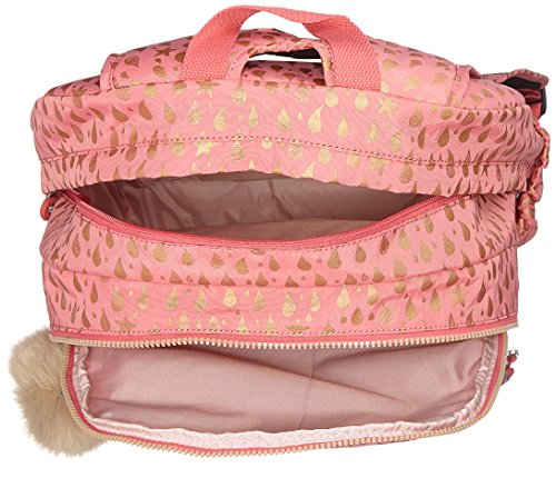 4e527b4c5 Kipling Hahnee Mochila infantil, 47 cm, 28 liters, Rosa (Pink Gold Drop