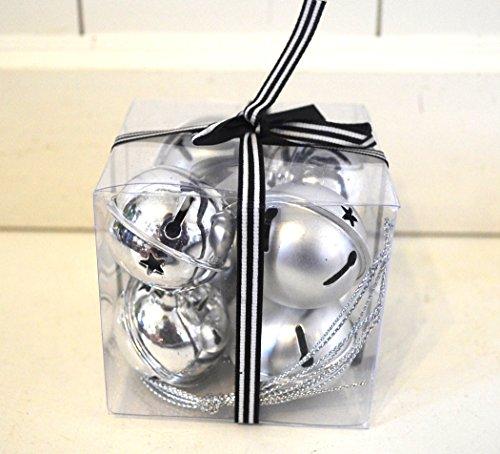 Baumschmuck Glocke Glöckchen Weihnachtsdeko Tischdeko Kugel Metall Set 8 Stück Deko x-Mas Streudeko Weihnachts-Baumschmuck ca.3,5cm Tannenbaum Deko Advent Weihnachten Winter Kranz-Deko