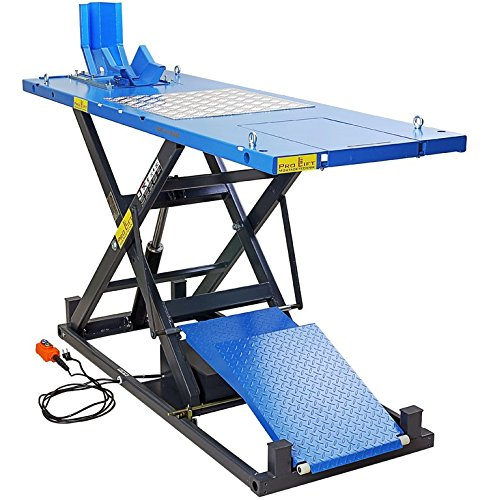 Pro-Lift-Montagetechnik 1000kg Scherenbühne, Motorradhebebühne, Elektroantrieb, MLP100HEJ, 02222