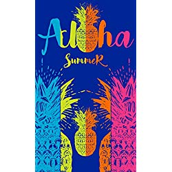 Aloha - Toalla de Playa de 100x170 cm. Tejido Jacquard Algodón 100%. Aloha Summer
