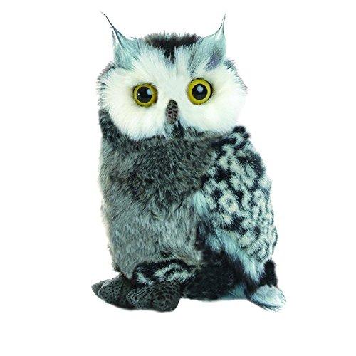 süsse Eule - Great Horned - Virginia-Uhu Owl ca. 22 cm Stofftier Plüschtier Spielzeug 100% Polyester ideal als Geschenk Waschbar bei Handwäsche 30 C°