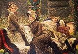 Kunstdruck/Poster: James Jacques Joseph Tissot Mutter und Kinder auf einer Gartenbank - hochwertiger Druck, Bild, Kunstposter, 85x60 cm