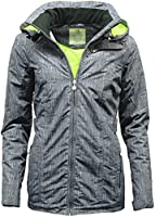 Womens Montana Quilted Waterproof Performance Jacket with Detachable Hood