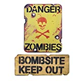 Kombat UK Kids Zombie Keep Out Wooden Bedroom Sign Set