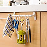 #10: HOKIPO® Over the Door Plastic Hook Hanger, Pack of 1, White