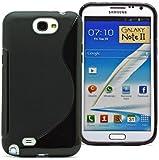 Samsung Galaxy Note II Black S Line Gel Case