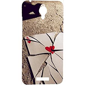 Casotec Broken A Card Design Hard Back Case Cover for Micromax Canvas Spark Q380