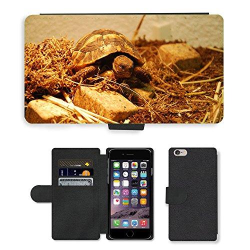 Just Mobile pour Hot Style Téléphone portable étui portefeuille en cuir PU avec fente pour carte//m00140282Tortue eau Créature/Animaux/Apple iPhone 6Plus 14cm
