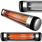 Purus 2500W Deluxe Wall Mounted Electric Infrared Outdoor Garden Patio, Bathroom Heater, Waterproof