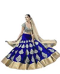 Vaankosh fashion womens women royal blue cotton heavy embroidered designer lehenga/bollywood lehenga/partywear lehenga for women