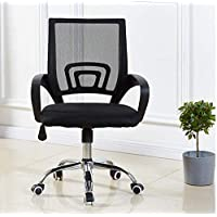 Mesh Chair Computer Desk Fabric Adjustable Ergonomic Swivel Lift, Black