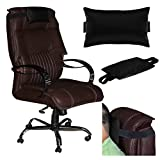 Acm Leather Cushion Pillow Head & Neck Rest for High Back Office Chair Black