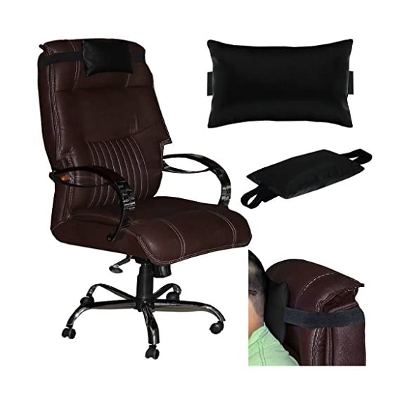 Acm Leather Cushion Pillow Head & Neck Rest Compatible with Full Back Executive Chair