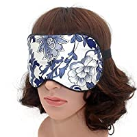 Eye Mask - Best Natural Pure Mulberry Silk Sleep Mask Super Soft Eye Mask For for Men & Women (Floral)