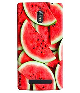 Omnam Water Melon Pattern Printed Designer Back Cover Case For Oppo Find 7
