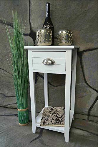 Livitat® Telefontisch Landhaus antik weiß Tisch Beistelltisch Chabby chic Kommode LV1020