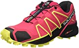 Salomon Women's Speedcross 4 Trail Running Shoes, Multicolor (Virtual Pink/Black/Sulphur), 5 UK