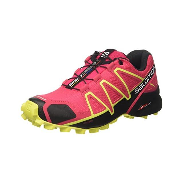 Salomon Speedcross 4 Nocturne GTX W, Chaussures de Trail Femme, Vert (Lime Green/Virtual Pink/Bird of par 000), 39 1/3 EU