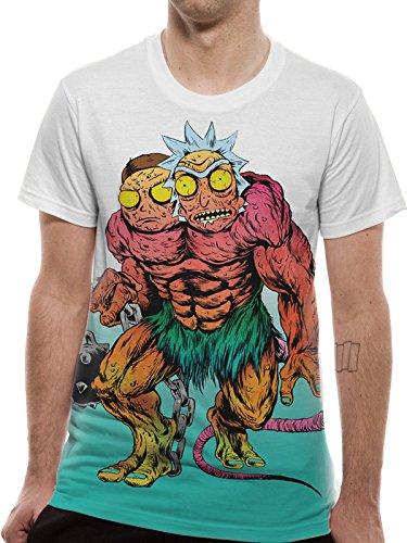 Rick & Morty Monster Camiseta Multicolor XL