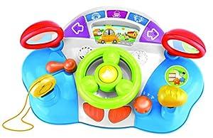 Jocca- Volante Infantil Didáctico, Luces, Sonidos y Flashes/Estimulador de sentidos para bebés/Juguete Educativo, (QUALIMAX International 1737)