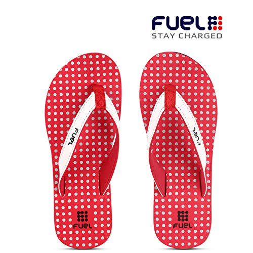 FUEL Women's Comfortable Soft Strap House Beach Slippers Flip Flops for Girls