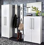 Germania 8705-84 5-tlg. Garderoben-Set im edlen Design GW-Inside in Weiß, 215 x 198 x 34 cm (BxHxT)