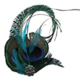 Jelinda® Women Peacock Eye Feather Headband Bridesmaid Fascinator Hair Clip Headpieces Bild