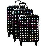 Lot 3 valises dont 1 Cabine RYANAIR David Jones - 4 roulettes - Poignée télescopique - Fermeture éclair