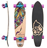 STAR-SKATEBOARDS® Premium Longboard de arce canadiense Top Mount Longboard ★ 65mm Flex Carving/Cruiser Edition ★ Dream Catcher Design