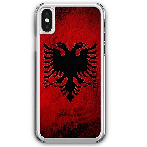 Albanien Splash Flagge - Hülle für iPhone XS - Motiv Design Albanisch - Cover Hardcase Handyhülle Schutzhülle Case Schale Flagge Cover