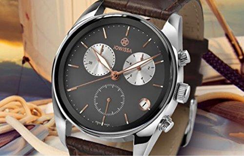 a226c05de943 Jowissa Lux Reloj Hombre Cronógrafo Caja Acero 40mm Esfera Verde Brazalete  Acero