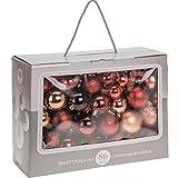 86 Weihnachtsbaumkugeln Rot/Rose glänzend glitzernd matt bis 7cm Christbaumkugeln Dekokugeln