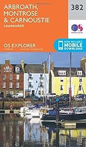 OS Explorer Map (382) Arbroath, Montrose and Carnoustie (OS Explorer Paper Map) (OS Explorer Active Map)