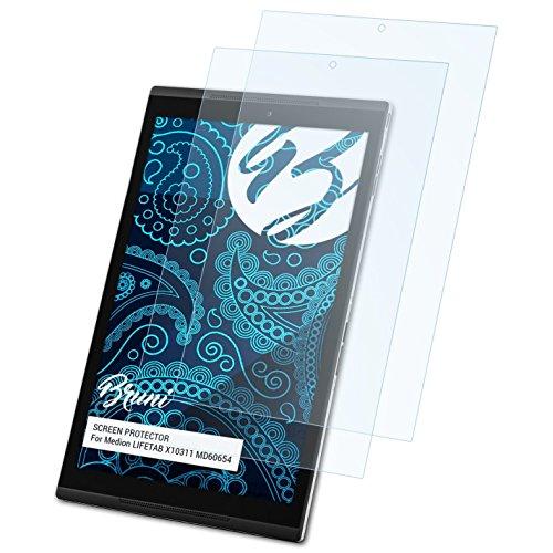 Bruni Schutzfolie für Medion LIFETAB X10311 MD60654 Folie, glasklare Bildschirmschutzfolie (2X)