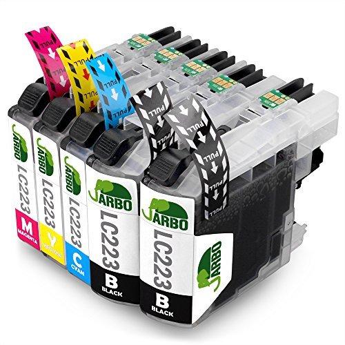 Preisvergleich Produktbild JARBO Kompatibel Brother LC223 Druckerpatronen (2 Schwarz,1 Cyan,1 Magenta,1 Gelb) Hohe Kapazität mit Chip Kompatibel für Brother DCP-J4120DW DCP-J562DW MFC-J5320DW J5620DW J5625DW J5720DW J4420DW J4620DW J4625DW J480DW J680DW J880DW