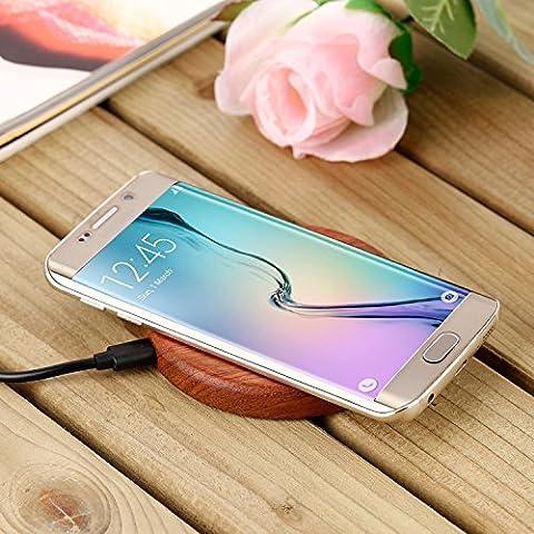 Chargeur sans fil Chargeur à induction Qi compatible avec Samsung Galaxy S7, S7 Edge, S6, S6 Edge, S6 Edge + (Plus), Note 5, Nexus 4, 5, 6, 7, Moto 360 Watch, Nokia Lumia 830, 735, 920, 930, 1520, 950 XL, Blackberry Z30, Catphone S50, Samsung Galaxy S3, S4, S5, Note 3, Note 4, Alpha équipés d'une PWRcard ou SlimPWRcard, iPhone 6S, 6S Plus, 6, 6 Plus, 5, 5C, 5S équipés d'un iQi Mobile, et autres téléphones portables smartphones compatibles Qi