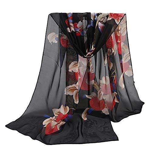 TUDUZ Damen Jacquard Baumwolle Pariser Streifen Schal weichen Strand Handtuch Schal