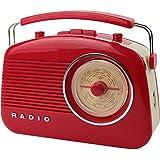 Radio Enceinte rétro 60's Bluetooth Rouge La chaise longue 37-1D-004