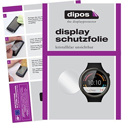 dipos I 6X Schutzfolie klar passend für Motorola Moto 360 Sport Folie Displayschutzfolie