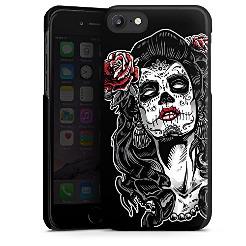 Apple iPhone X Silikon Hülle Case Schutzhülle Zombie Catrina Halloween Hard Case schwarz