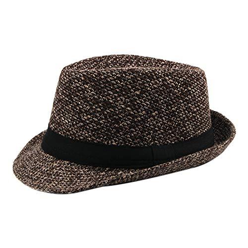 Panama Kostüm Hut - Demarkt 1 stück Panama Hut Jazz Hut Mafia Gangster Herren Fedora Trilby Bogart Hut Herren 1920s Gatsby Kostüm Accessoires (Kaffee)