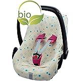 ByBoom® - Funda de verano / funda hecha de 100% algodón orgánico, funda universal para portabebés (Moisés), asiento de coche, por ejemplo, Maxi-Cosi
