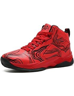 LANSEYAOJI Niños Zapatillas de Baloncesto High-Top Al Aire Libre Calzado Deportivo Moda Lace Up Sneaker Ligeros...