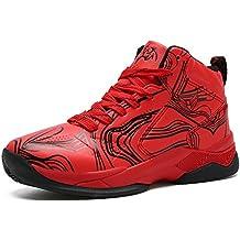 premium selection 27cdb 97547 LANSEYAOJI Niños Zapatillas de Baloncesto High-Top Al Aire Libre Calzado  Deportivo Moda Lace Up