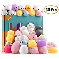 KUUQA Animal Squishies Toys Kawaii Squishy Panda Cat Paw Cute Mini Soft Squeeze Stress Reliever Balls Toys for Kids Adult Birthday Party Favor Bags Gifts