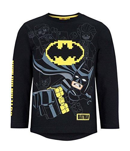 Lego batman maglietta maniche lunghe ragazzi nero 116