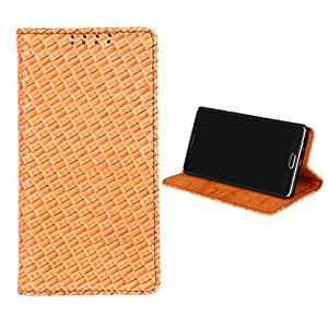 Dsas Leatherate Cover for Samsung Galaxy Grand Max  (MAT-ORANGE)
